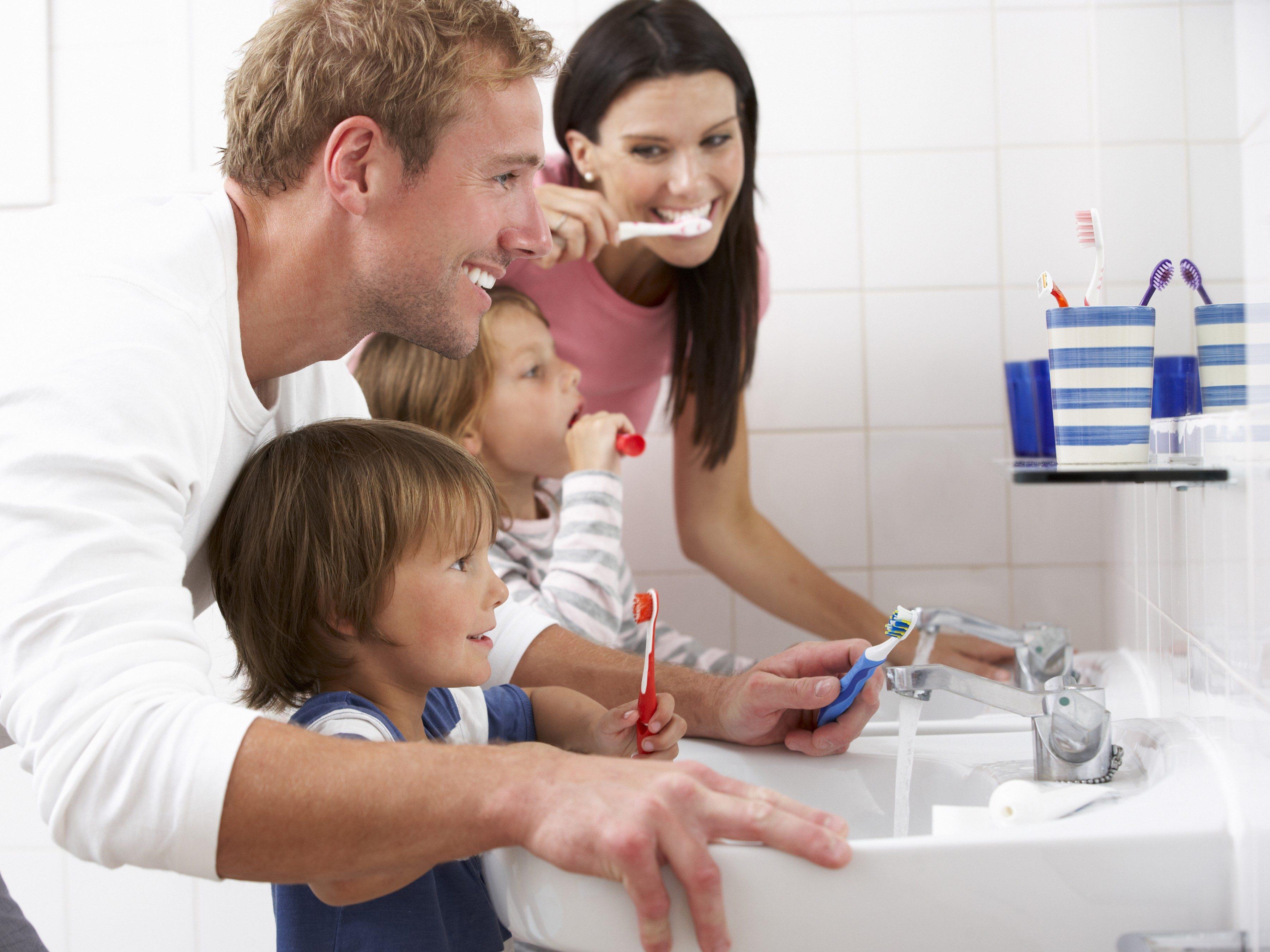 2. Hum While Brushing Your Teeth