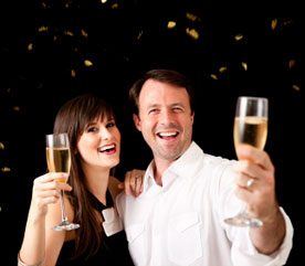 9. Toast the New Year with Just One Glass of Bubbly