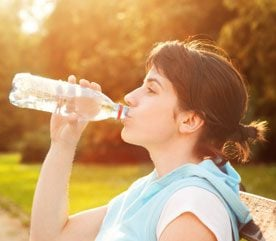 5. Drink Water or Juice on the Way to the Gym