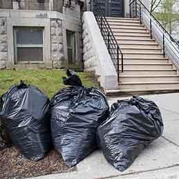 Reinforce a trash bag