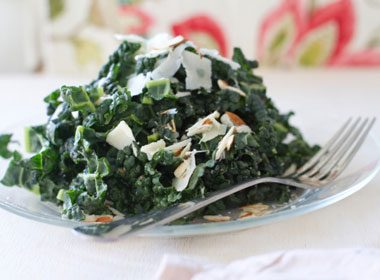 Foods That Soothe Your Stomach: Parmesan-Crumbed Kale
