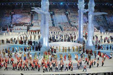 Athletes Walking In