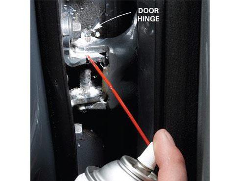 Step 5: Lube Door Hinges