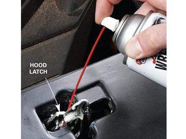 Step 3: Lube the Hood Latch