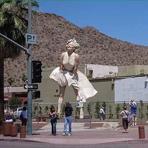 4. Giant Marilyn, Palm Springs, California