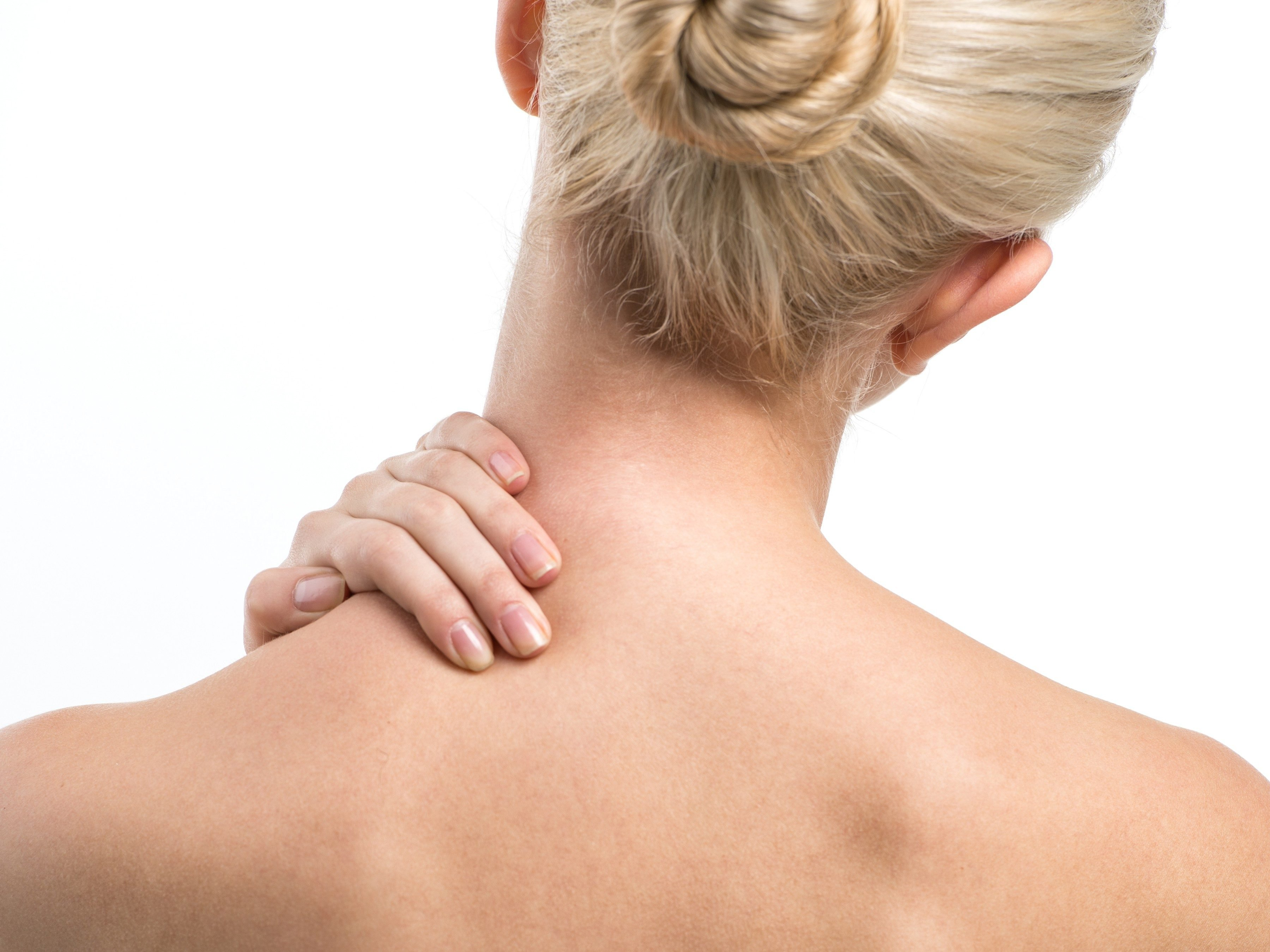 3. Massage sore muscles with essential oils.