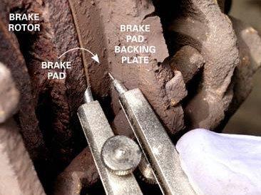 Check Brake Pad Thickness