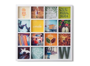Grid Art Wall Photo Display