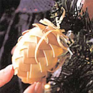 3. Ribbon Pinecone Ornament