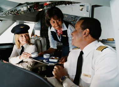 Pilots Are Often Served Different Meals