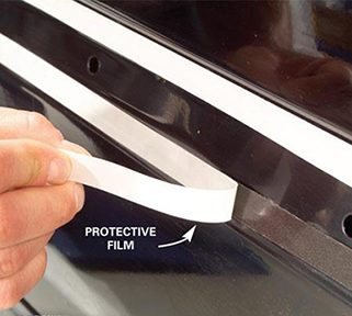 Expose the Car Molding's Sticky Surface