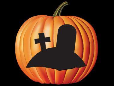 Pumpkin Pattern #6: Tombstones