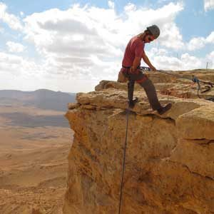 1. Rappel into the Ramon Crater