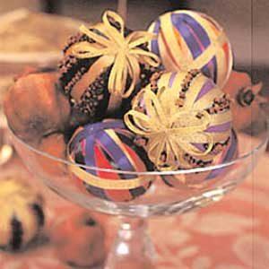 1. Ribbon Ball Ornament