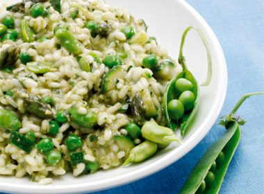 Brown Rice Risotto with Lemon and Fresh Peas