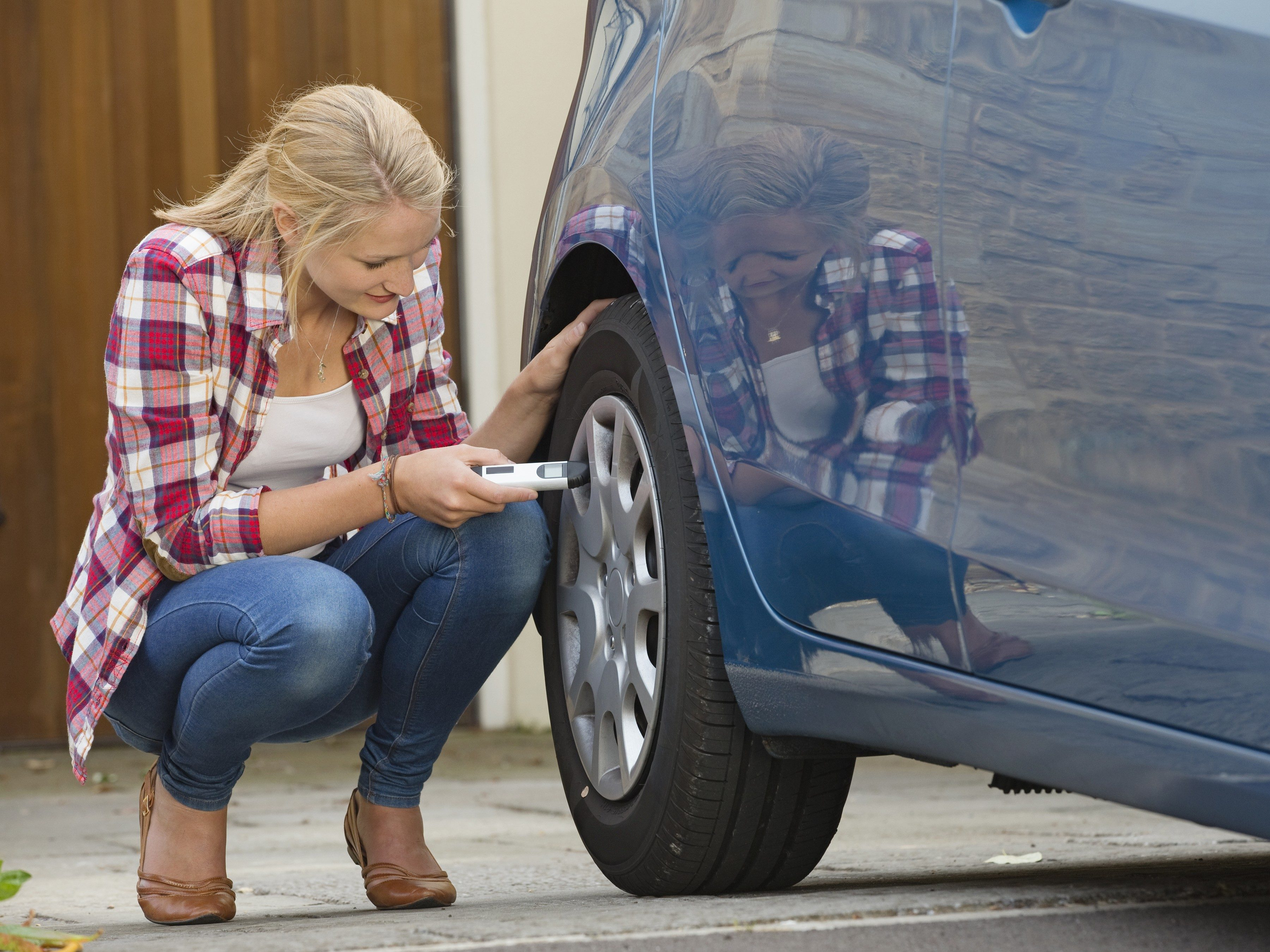 Driving tip #6: Check your car's tire pressure.