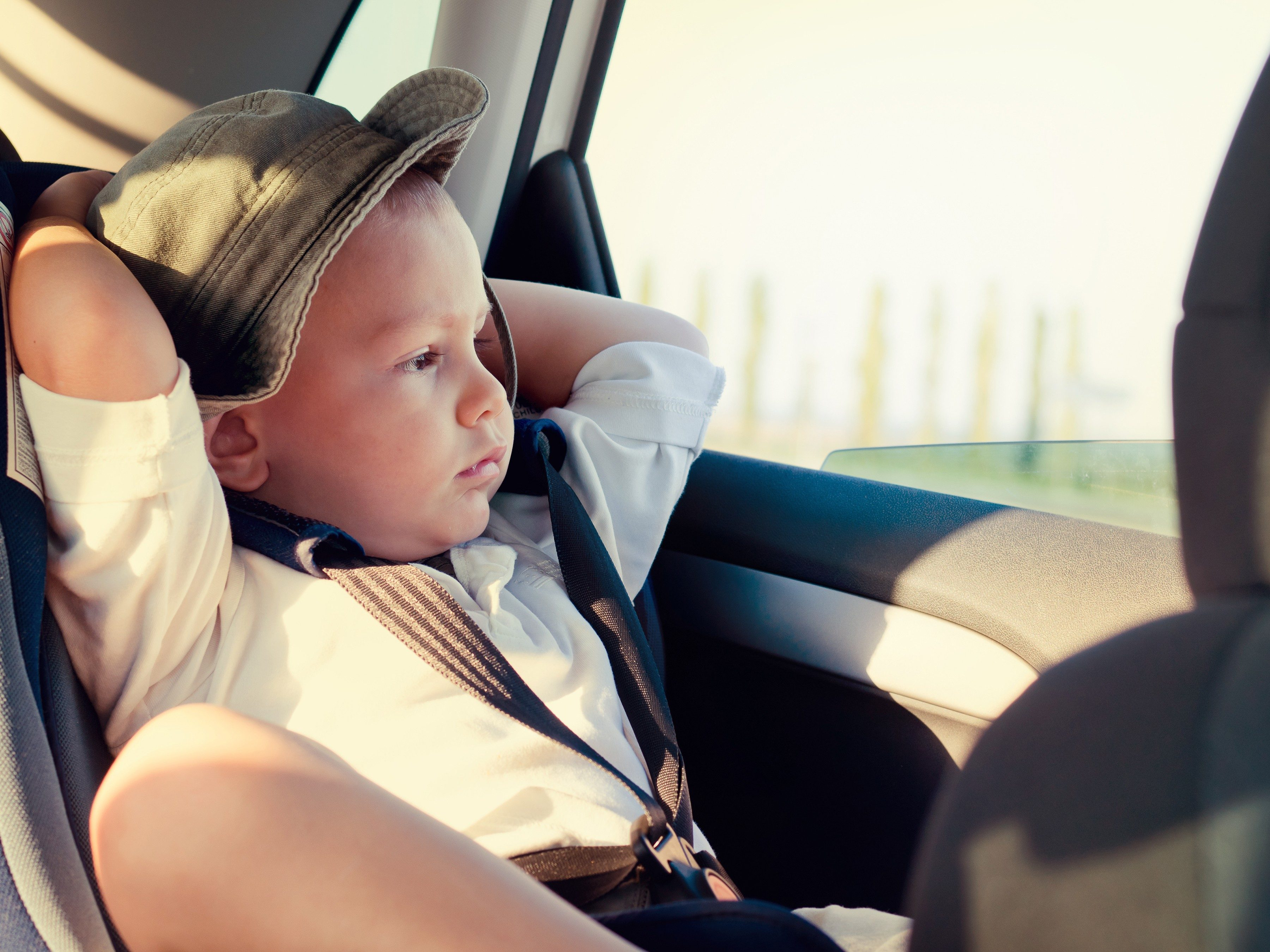 Driving tip #9: Get the kids settled before you leave.