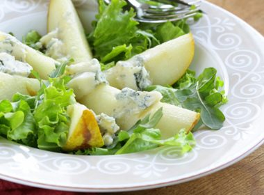 Warm Pear Salad with Cheese