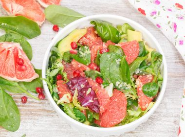 Spinach, Grapefruit, and Avocado Salad with Poppy Seed Dressing