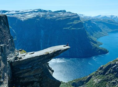 Places to Take a Selfie: Trolltunga in Norway