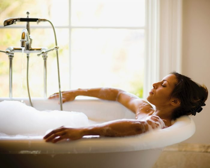 Give Yourself a Bubble Bath With Shampoo