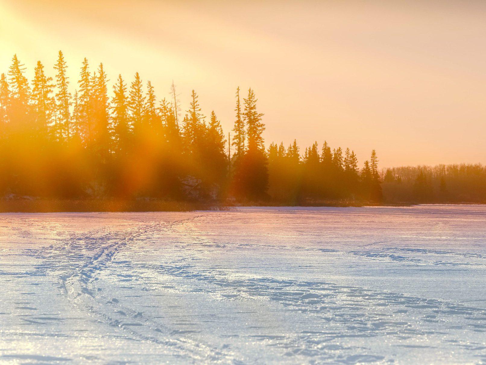 Sunset at Elk Island