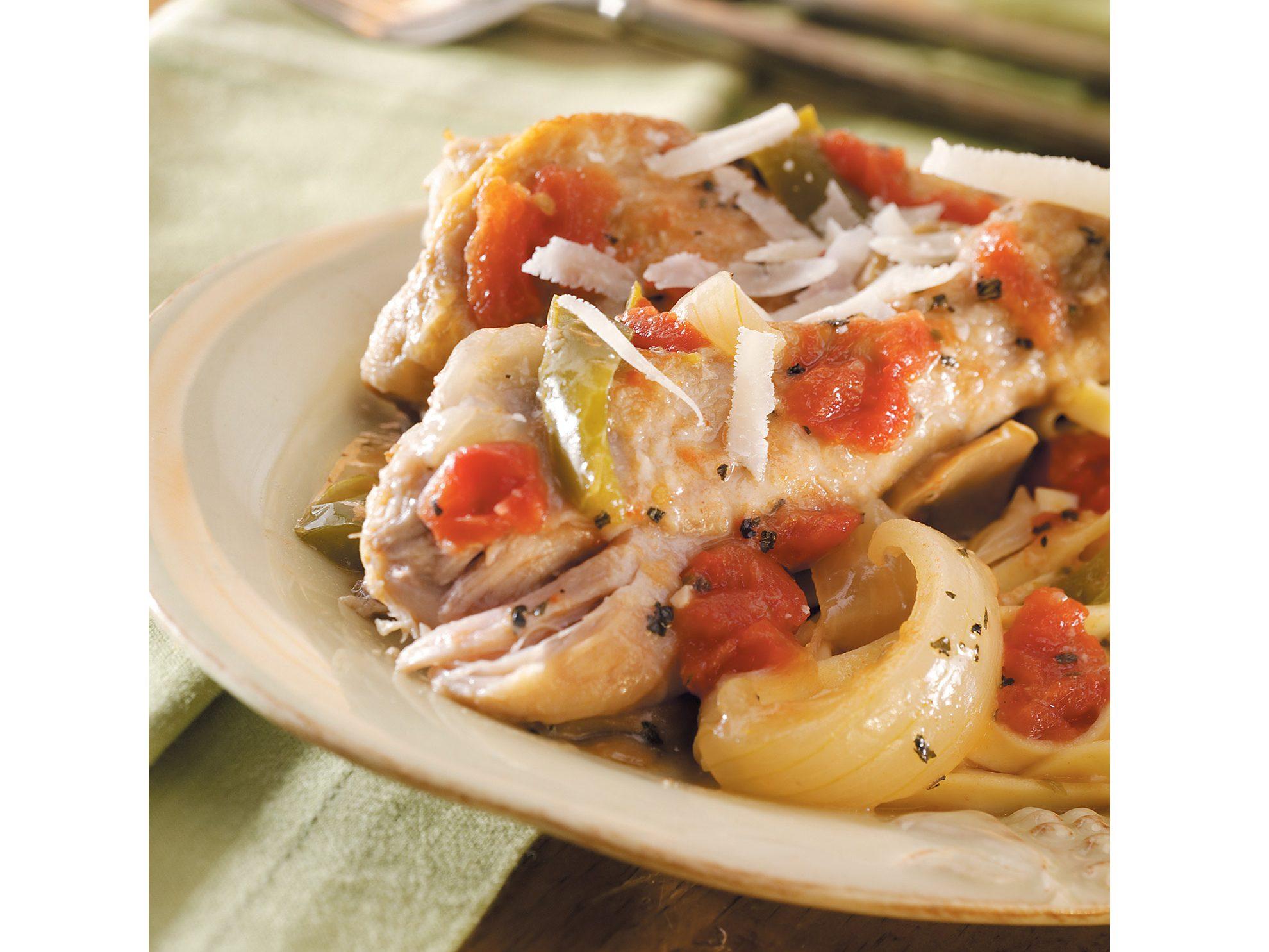 Slow-Cooked Chicken Cacciatore Recipe