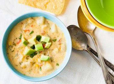 7. Healthy and Hardy Creamy Corn Chowder Recipe