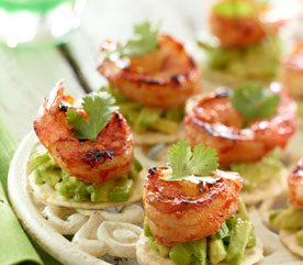 Spicy Prawns with Zesty Avocado Spread