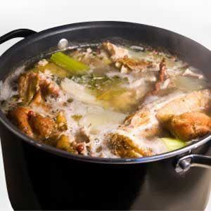 4. Use Ice Cubes to De-fat Soup and Stew