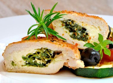 Chicken Breasts Stuffed With Spinach & Cheese