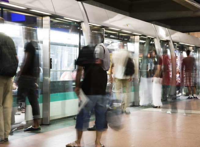 How to Ride the Subway Without Touching Anything or Anyone