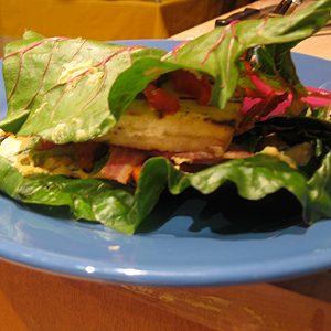 Stephanie's Lemon-Basil Tofu Burger
