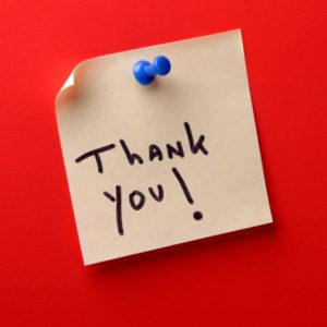 8. A Note of Thanks Goes A Long Way