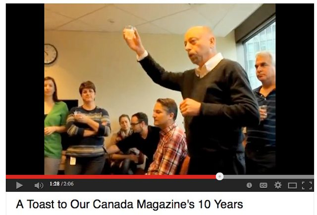 A Toast to Our Canada's 10 Years