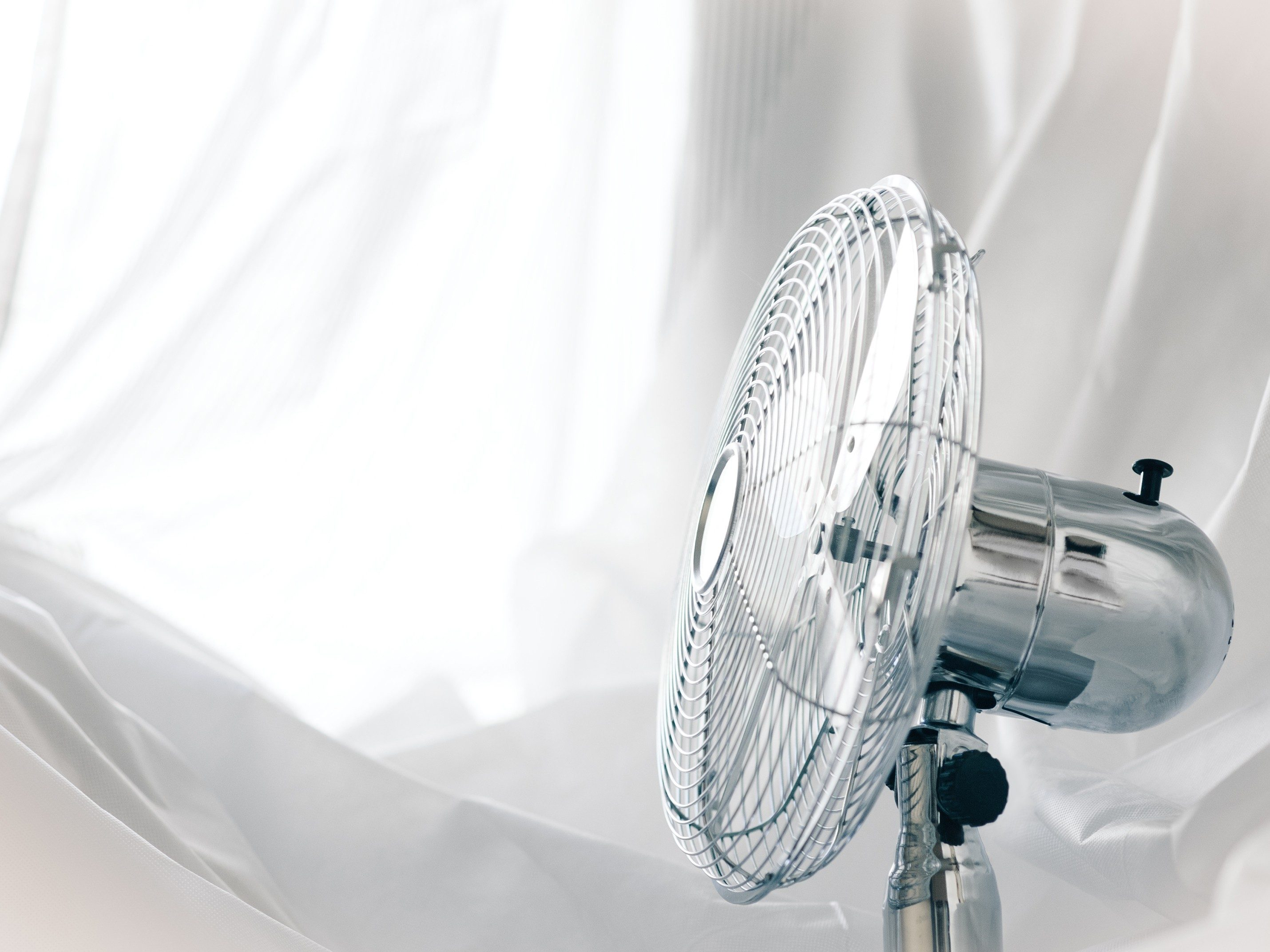 6. Sleep with a fan blowing on you.