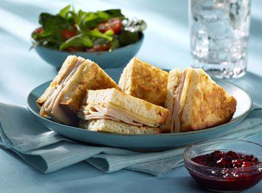 Gluten-Free Turkey & Swiss Baked Monte Christo Sandwich Recipe