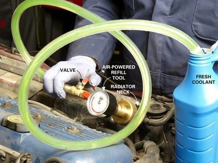 Vacuum-Fill the Cooling System