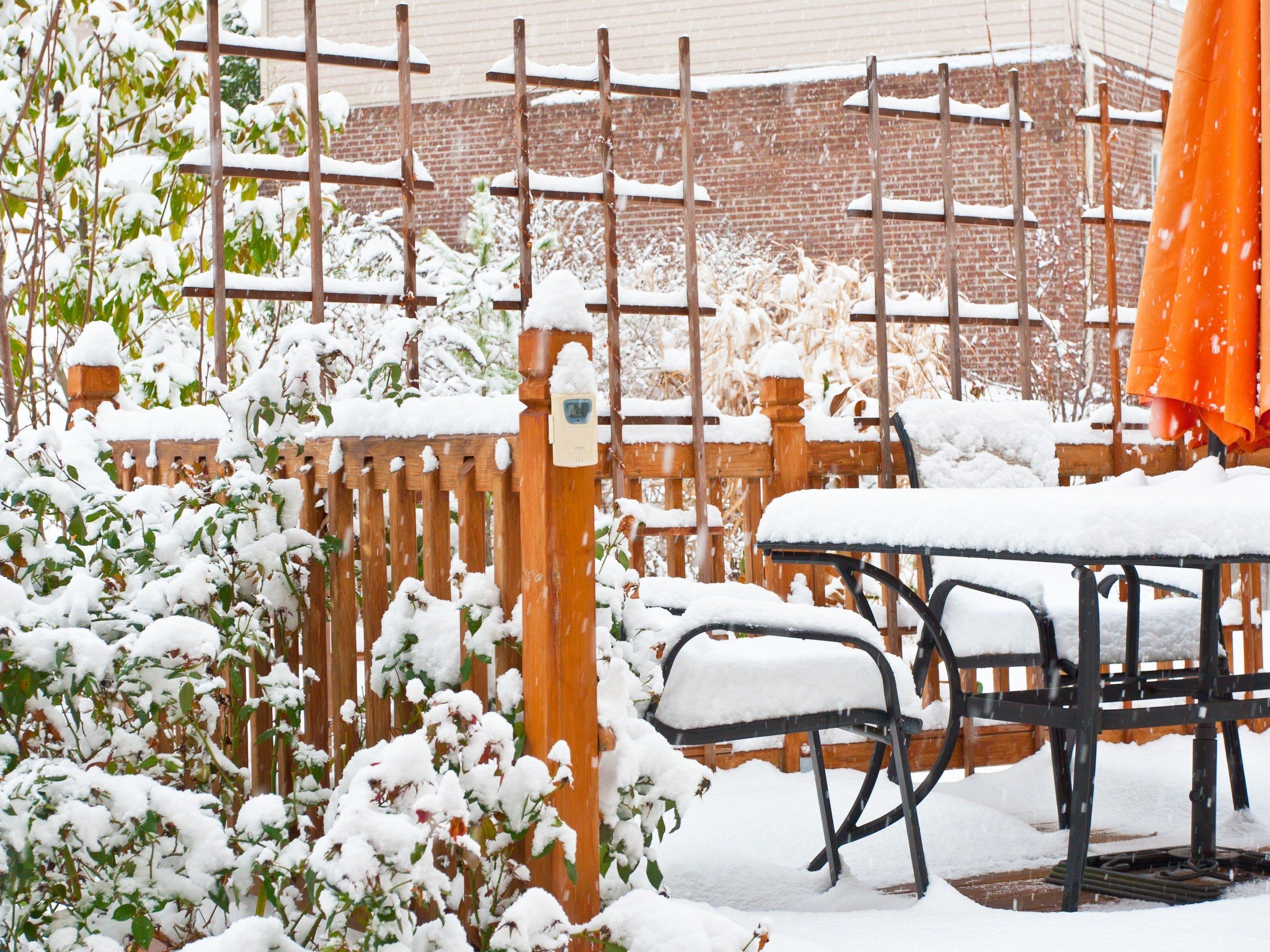 5. Winterize yard furniture and equipment.