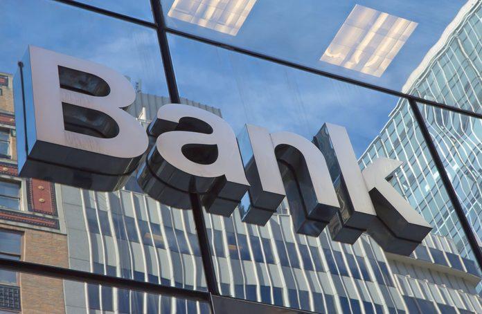 Side of bank logo