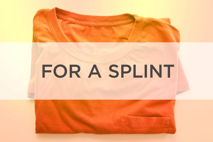 Orange shirt