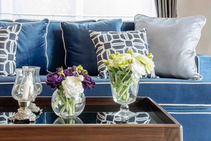 Flowers in living room