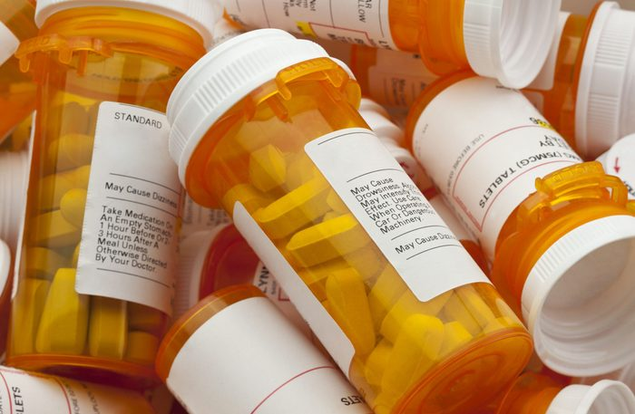 Collection of prescription pill bottles