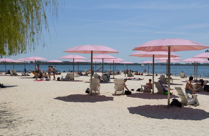 Sugar Beach in Toronto, Ontario