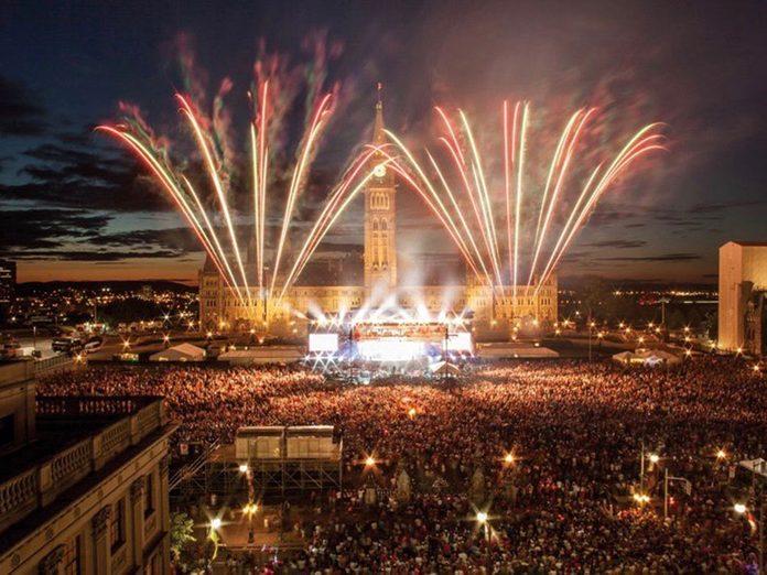 Canada Day fireworks at Parliament Hill, Ottawa