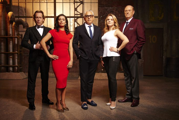 The cast of Dragons' Den