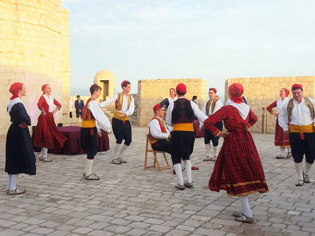 Croatian folk dancers