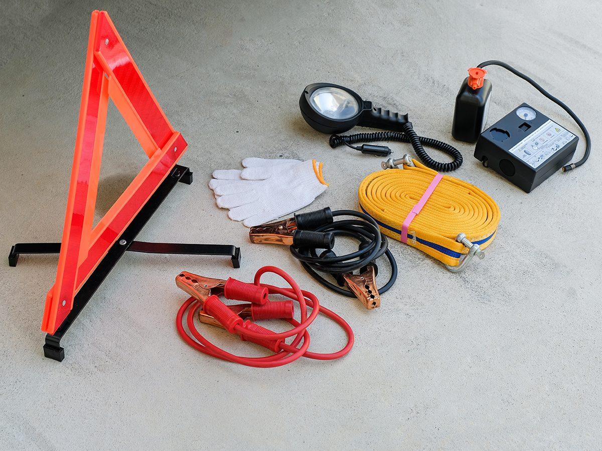 Road trip rules - roadside emergency kit