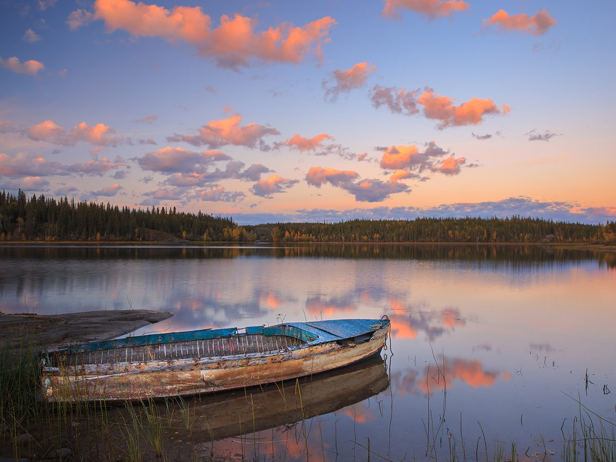 Worst places in Canada for mosquitoes - Yellowknife boat on lake