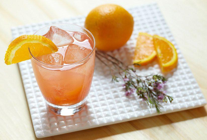 Smirnoff California Lemonade in hurricane glass